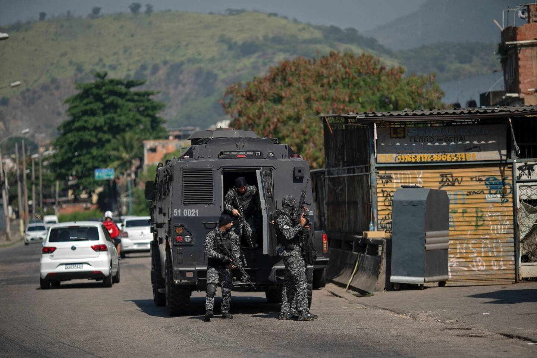 Opération antidrogue dans la favela Jacarezinho, le 6 mai 2021 à Rio de Janeiro, au Brésil