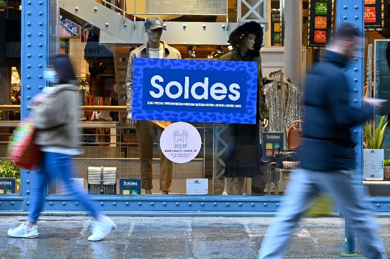 Un magasin d'habillement à Rennes, le 22 janvier 2021
