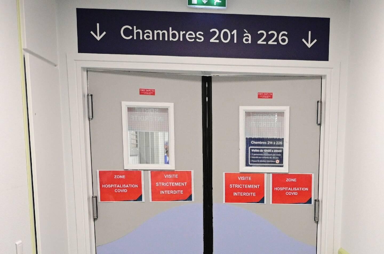L'entrée de la zone Covid de l'Hôpital privé de l'Est parisien - Ramsay à Aulnay-sous-Bois, le 13 mars 2021