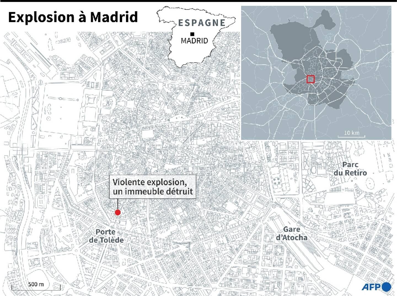 Explosion dans le centre de Madrid