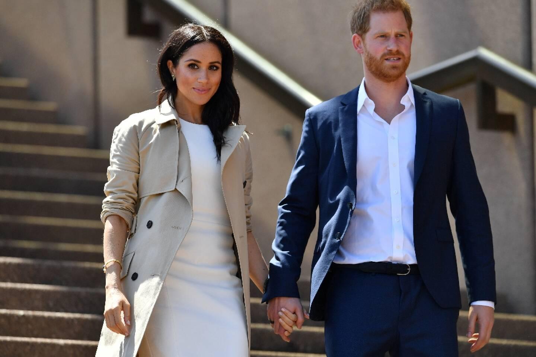 Le prince Harry et son épouse Meghan Markle en octobre 2018 à Sydney