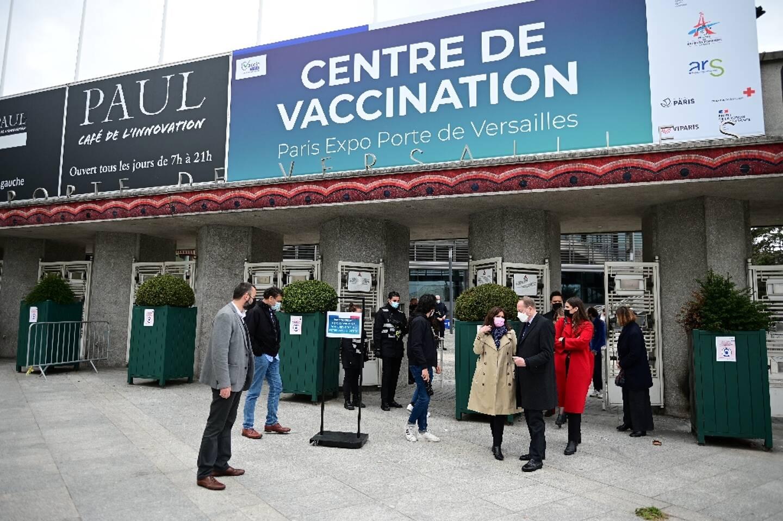 Le vaccinodrome de Paris, porte de Versailles le 8 mai 2021