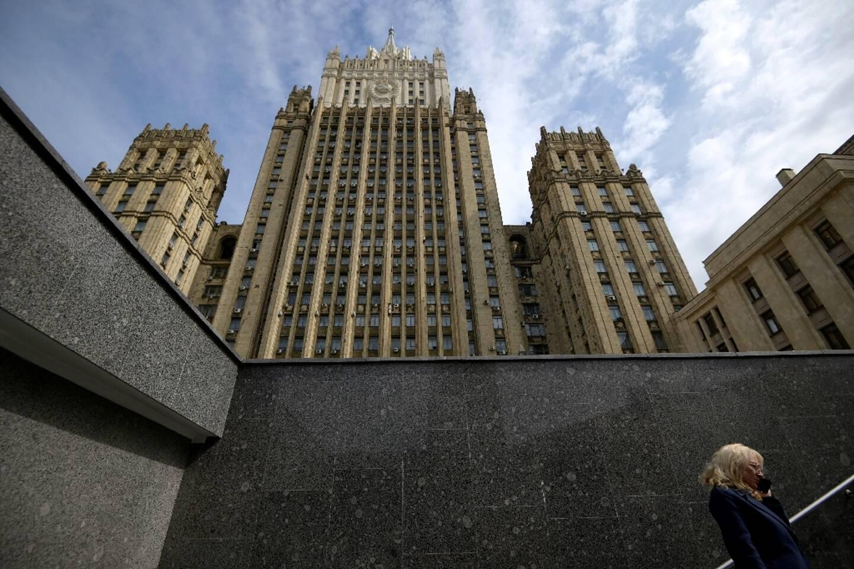 Vue du ministère des Affaires étrangères à Moscou le 19 avril 2021