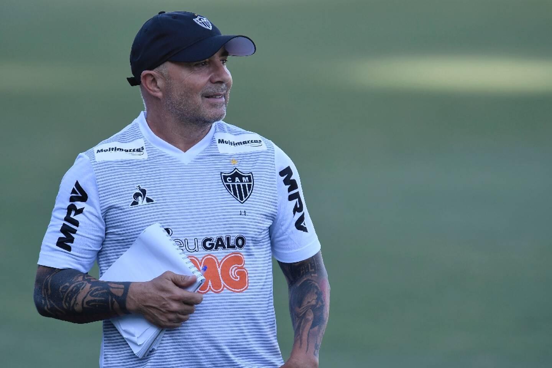 L'Argentin Jorge Sampaoli, alors entraîneur du club brésilien Atlético Mineiro, à Vespasiano, le 9 mars 2020