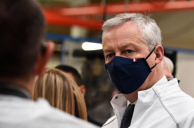Bruno Le Maire lors d'une visite d'usine à Gonesse le 15 avril 2021
