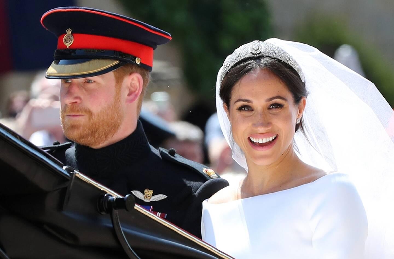 Le prince Harry et Meghan Markle, le jour de leur mariage,  le 19 mai 2018 à Windsor