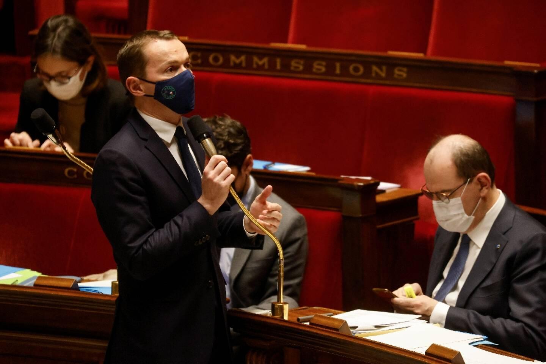 Le ministre des Comptes publics Olivier Dussopt à l'Assemblée nationale, le 9 février 2021
