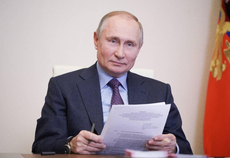 Le président russe Vladimir Poutine le 22 mars 2021