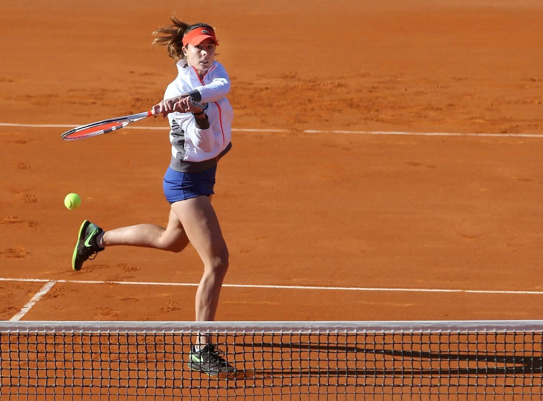 Alizée Cornet, joueuse de tennis originaire de Nice, ici en 2017.