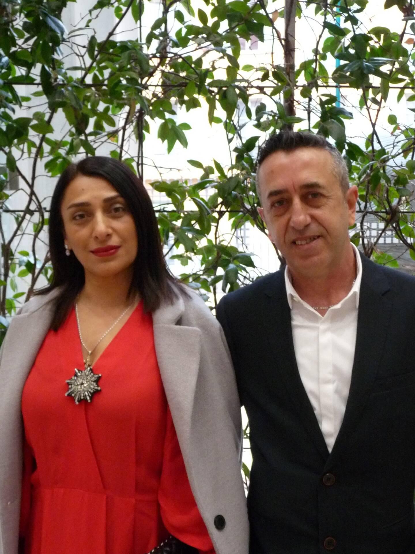 Naisi Bolashvili, sans emploi, et Lucien Sammartano, employé de mairie.