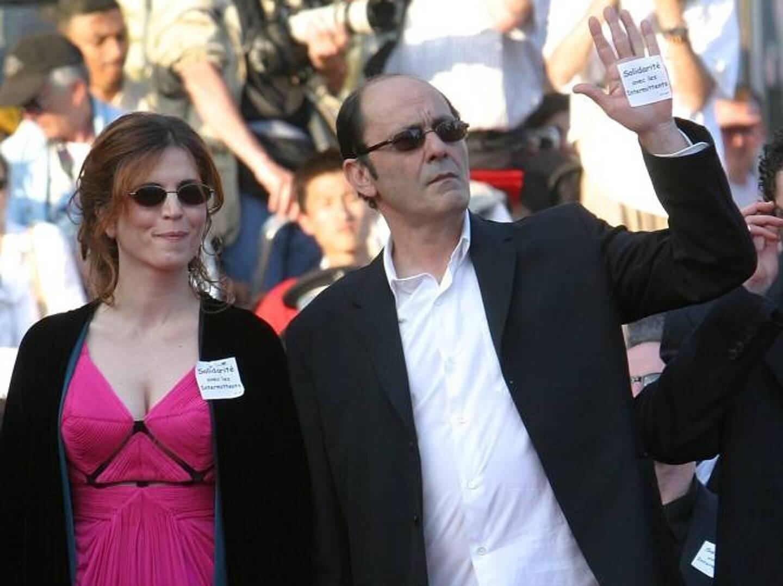 Avec Agnès Jaoui, sur le tapis rouge de Cannes.