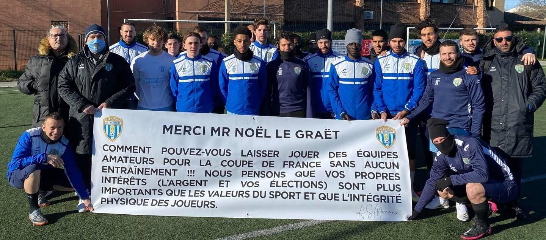 L'équipe fanion de Sainte-Maxime interpelle le président de la Fédération française de football.