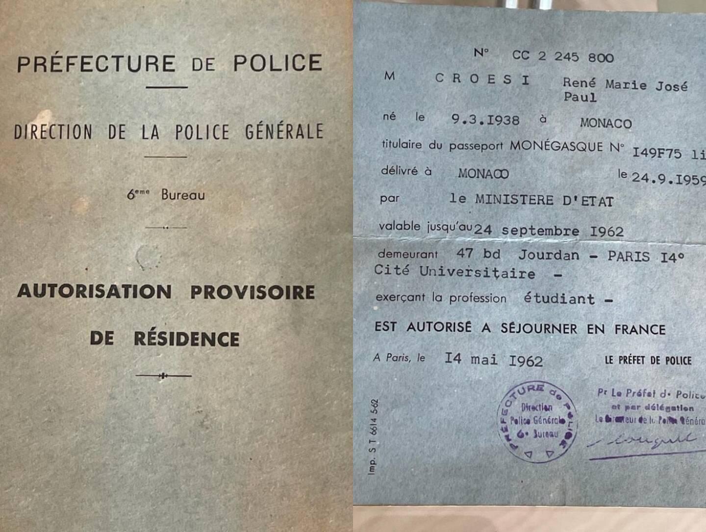 René Croesi se rappelle que cette autorisation provisoire de résidence avait provoqué la fureur du prince Rainier.