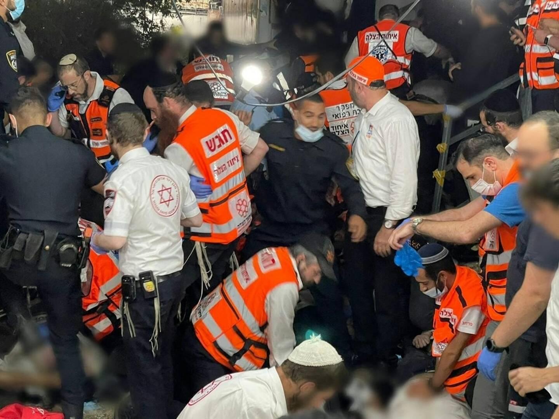 La bousculade a fait au moins 44 morts lors d'un pèlerinage juif.