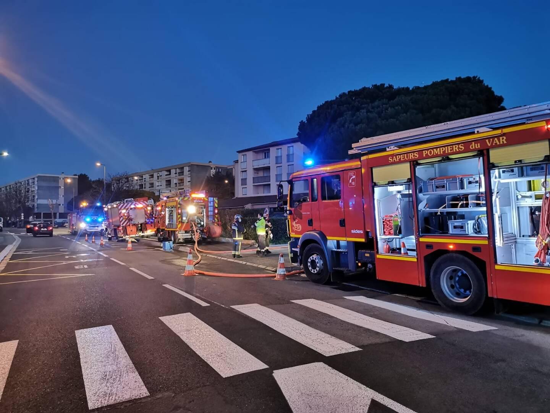 Un feu est intervenu quartier Villeneuve de Fréjus