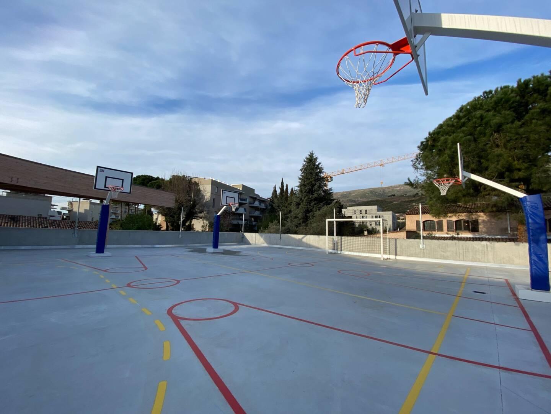 Le microsite à l'étage permet de faire du sport en extérieur.