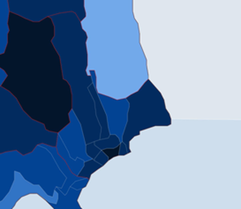 La carte de l'épidémie sur la commune de Menton.