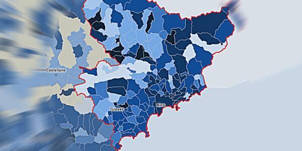 Le taux d'incidence de la Covid-19 dans les Alpes-Maritimes