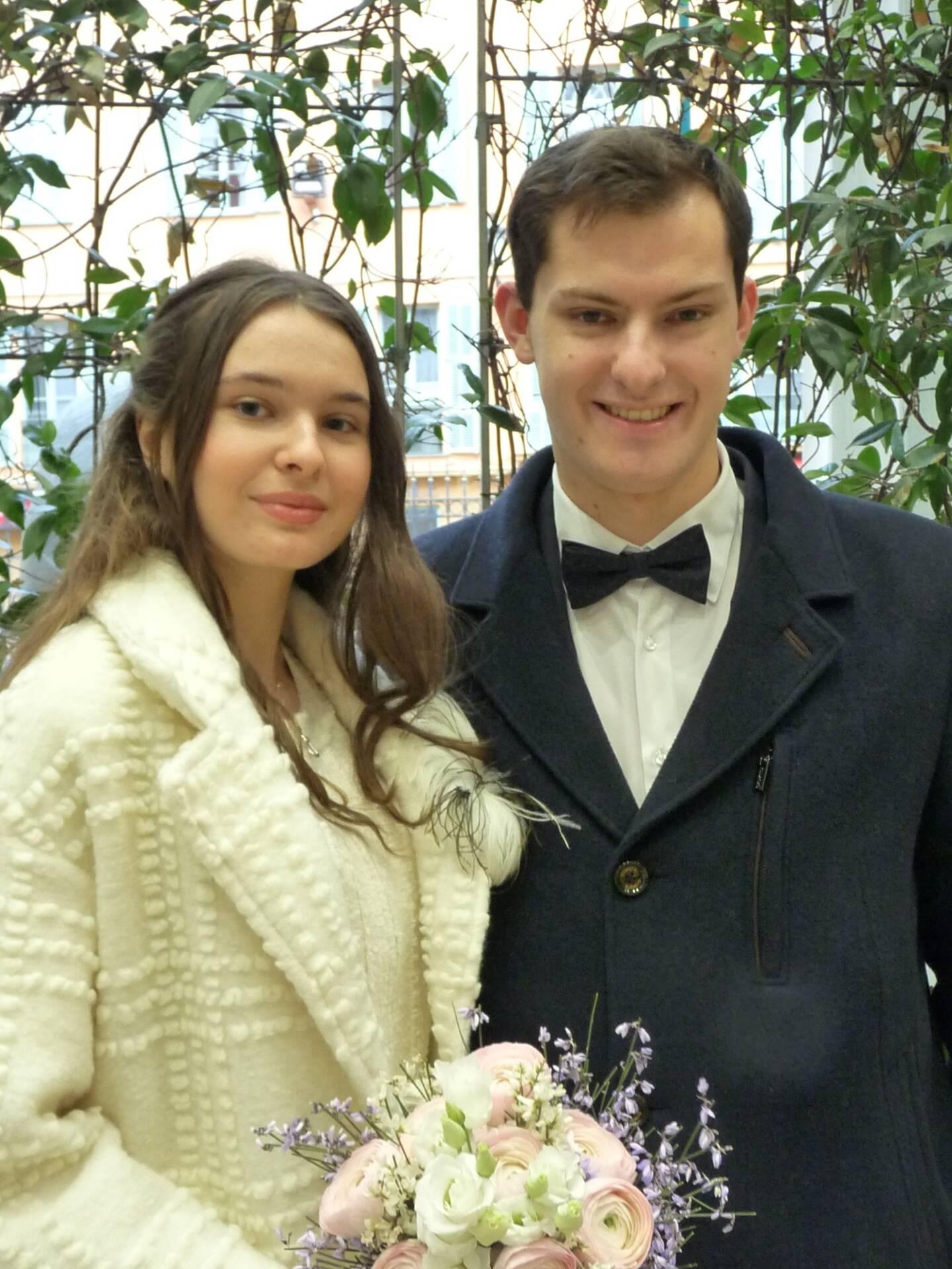 Arina Arsenteva et Nicolas Goueslain, étudiants.