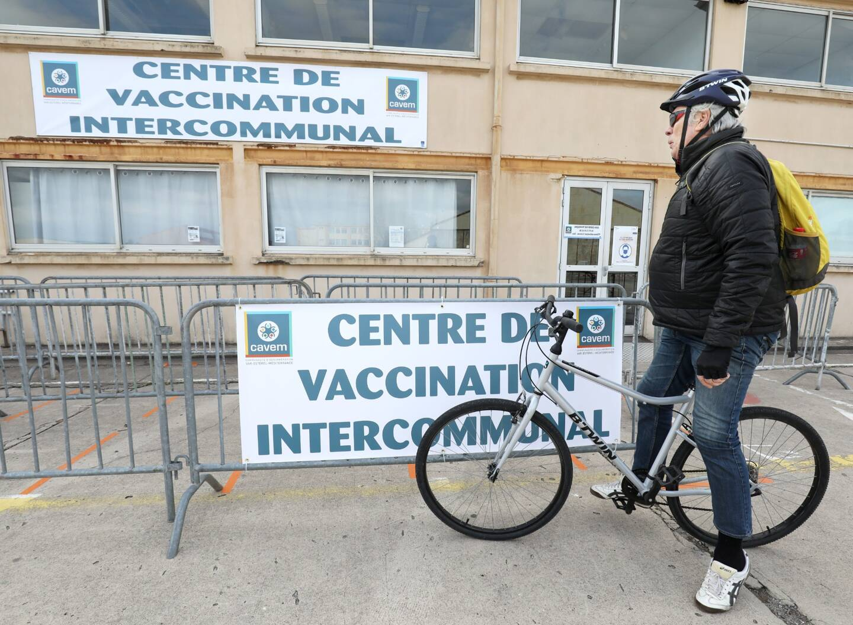 Le centre de vaccination à Fréjus.