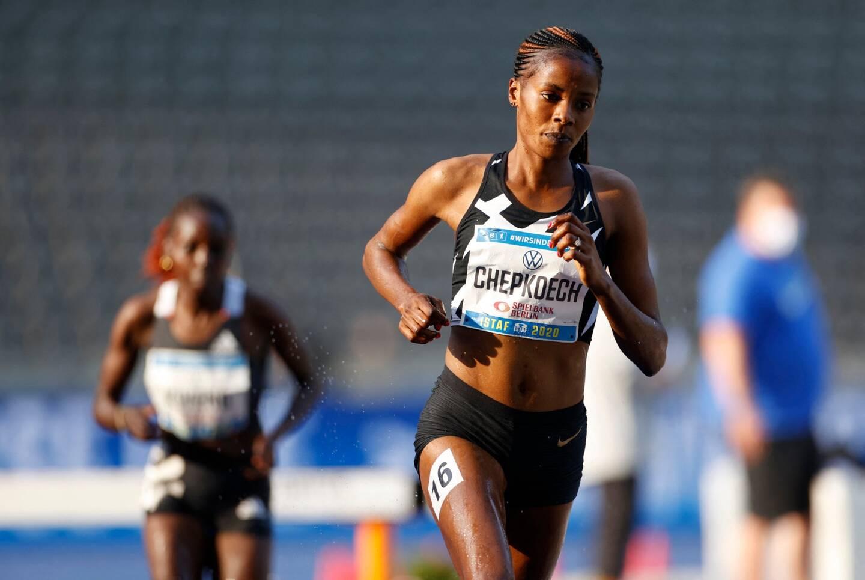 La coureuse du Kenya Beatrice Chepkoech (illustration).