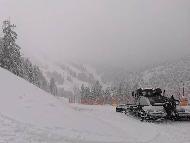 Chutes de neige du côté de la Colmiane.