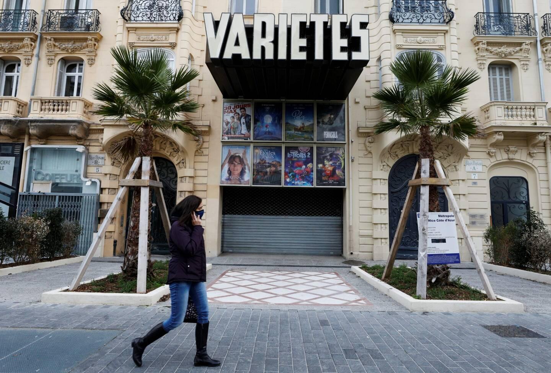 Le cinéma Variétés, sur l'avenue Victor Hugo à Nice.
