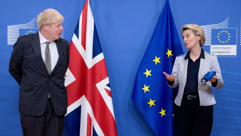 Le Premier ministre britannique Boris Johnson et la présidente de la Commission européenne Ursula von der Leyen lors d'une précédente rencontre à Bruxelles, le 9 décembre 2020.