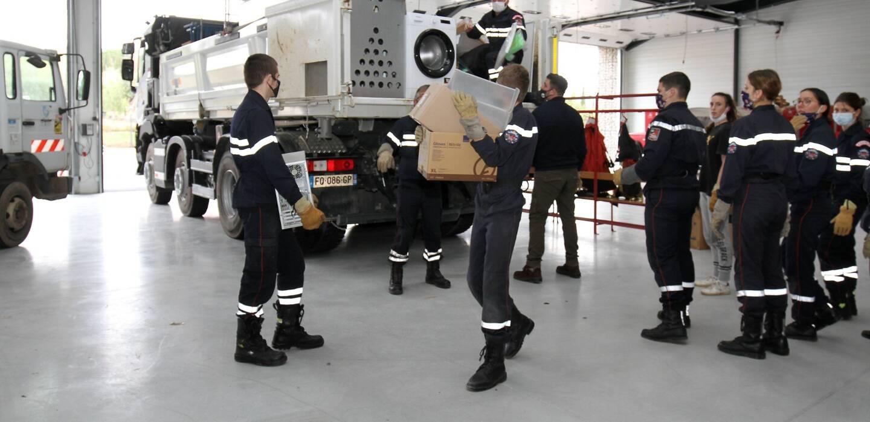 Les pompiers ont préféré faire le déménagement eux-mêmes.