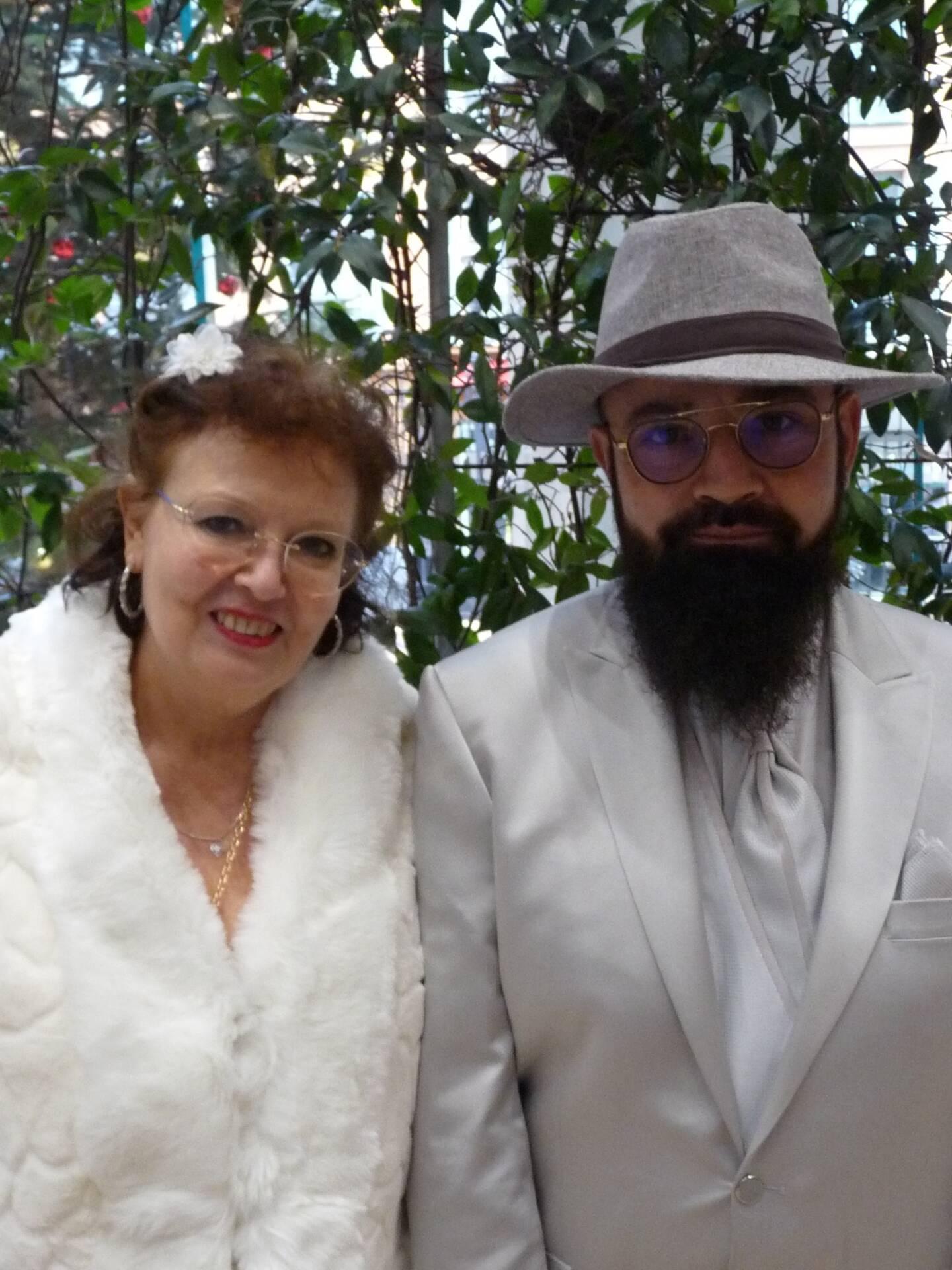 Marie-Christine Barre, serveuse au CROUS, et Roger Gregnac-Daudemard, personnel UCA.