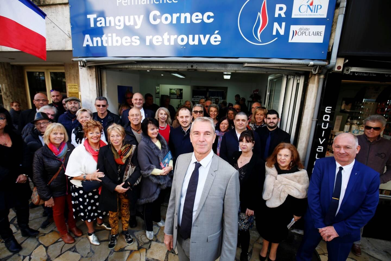 Tanguy Cornec ici lors de l'inauguration de sa permanence pour le lancement de sa campagne aux élections municipales.