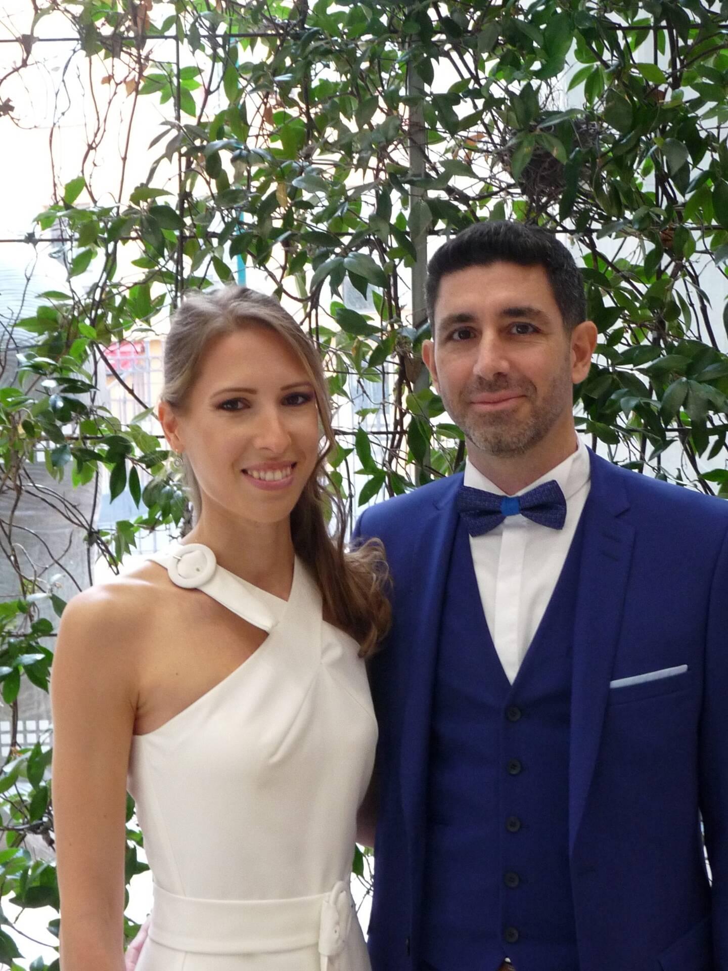 Daria Sheshukova, comptable, et Alessandro Pace, superviseur.