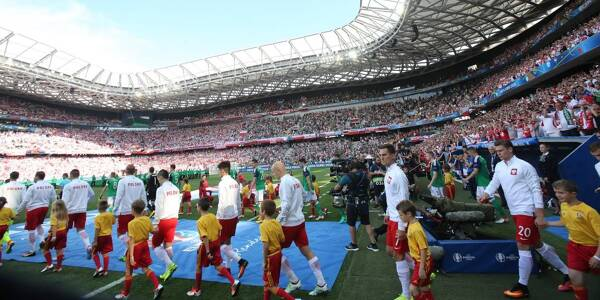 Un match de l'Euro 2016 à l'Allianz Riviera.