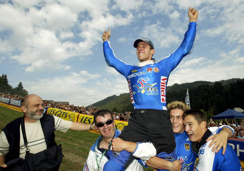 Fabien Barel, en 2004.