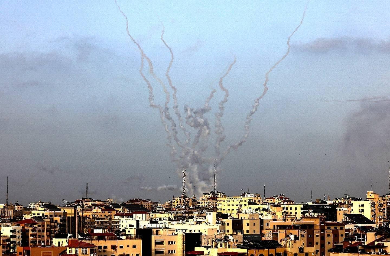 Des roquettes ont été tirées de Gaza vers Israël, le 10 mai 2021.