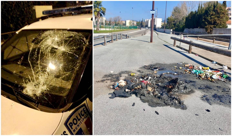 Au niveau du rond-point qui fait office de croisement entre la rue Marcel-Pagnol et l'avenue Gino-Tassan, les traces des poubelles incendiées marquent encore le sol. Dimanche soir, plusieurs départs de feu ont été déclarés dans le quartier de la Gabelle.