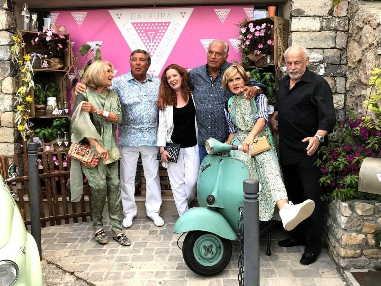 Gérard Louvin, lors de l'inauguration de son restaurant Da Laura en juillet 2020 à Mougins.
