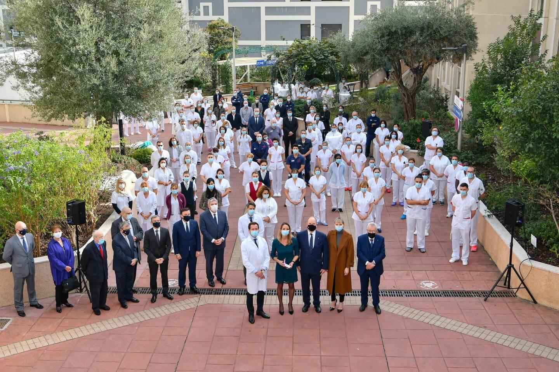 Le personnel du CHPG de Monaco.