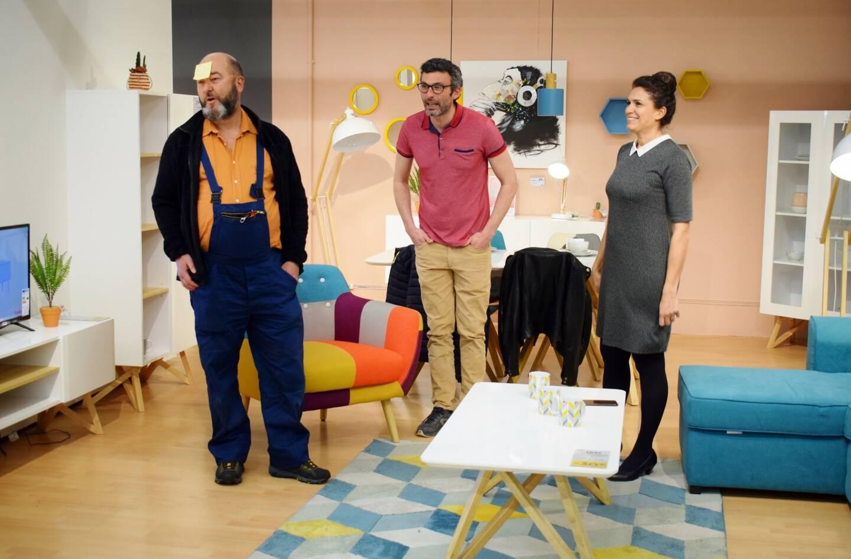 Mission accomplie pour les comédiens de la compagnie « Les géraniums » qui ont su attirer l'attention sur la situation actuelle des artistes et du milieu de la culture.