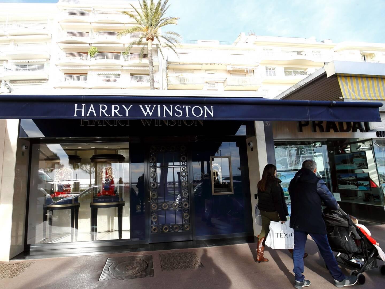 La bijouterie Harry Winston à Cannes, sur le bd de la Croisette (illustration).