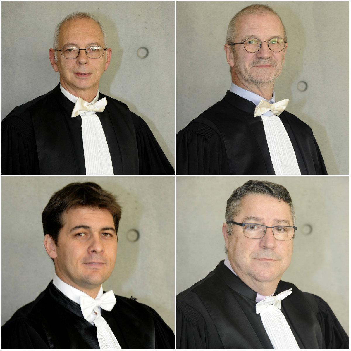 De haut en bas et de gauche à droite : Bernard Turetti, Daniel Gorlin, Nicolas Bohèmes et Jean-Jacques Di Cristo