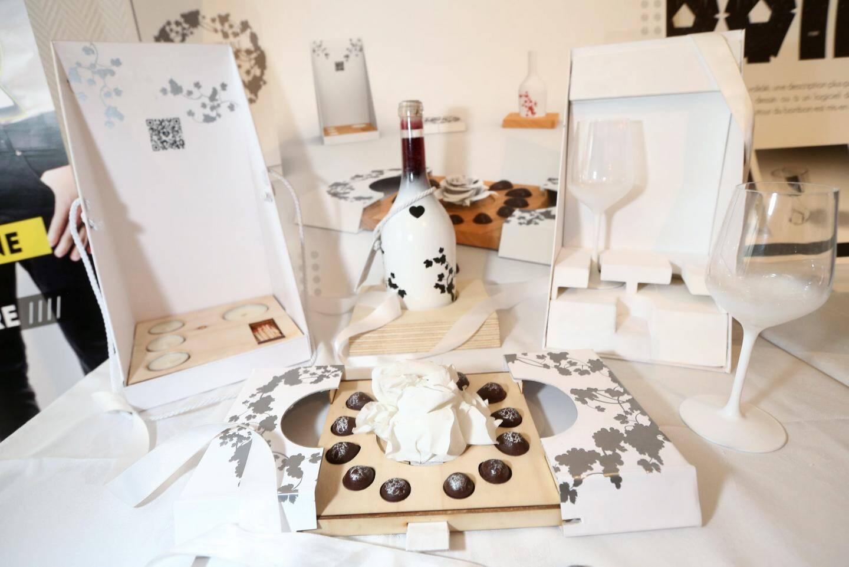Premier prix. Projet « Unforgettable » Fabion Chapon, Ugo Rorato (designers), Vincent Jezequel, Thomas Vialette, Alexandre Poitreau et Damien Levivien (chocolatiers).