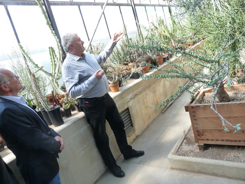 Jean-Marie Solichon, directeur du Jardin exotique,  a présenté mercredi matin le projet de déménagement de toute la flore.