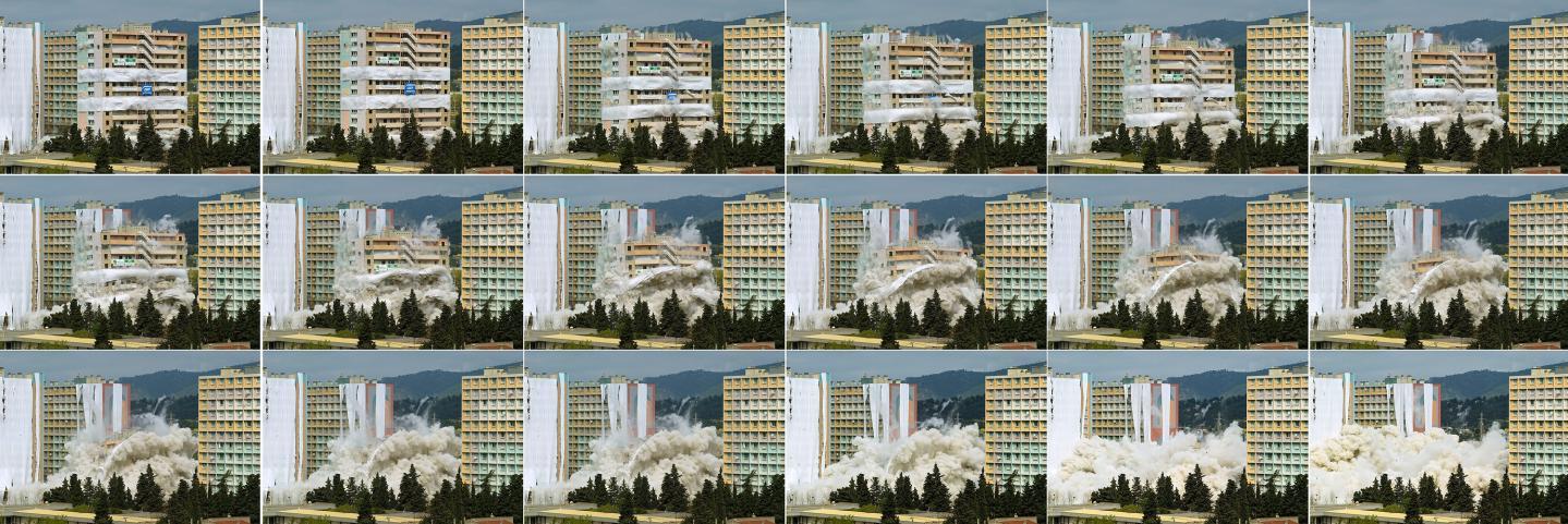 Dynamitage du Floréal le 18 avril 2004
