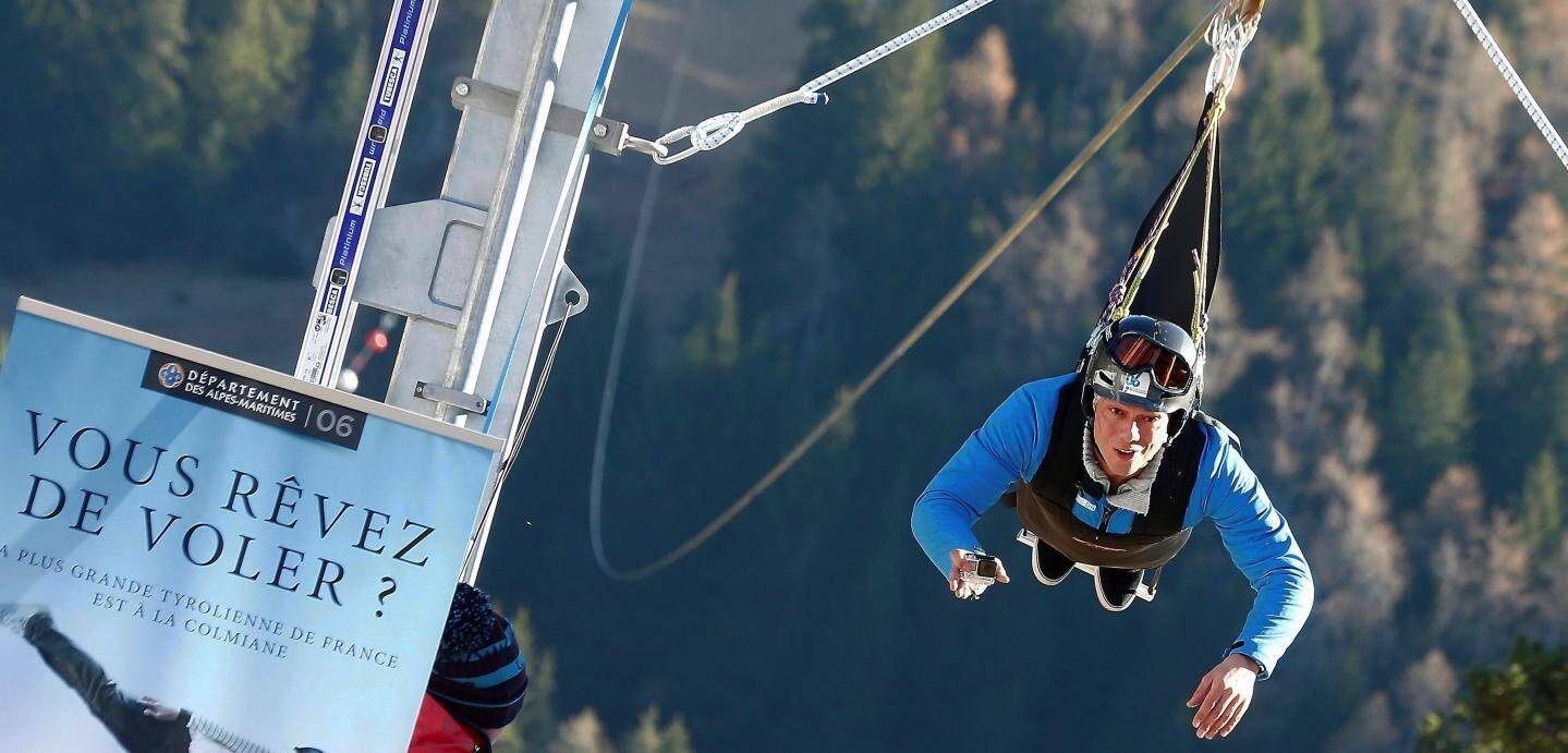 A défaut de skier, vous pourrez faire de la tyrolienne ce week-end à La Colmiane.