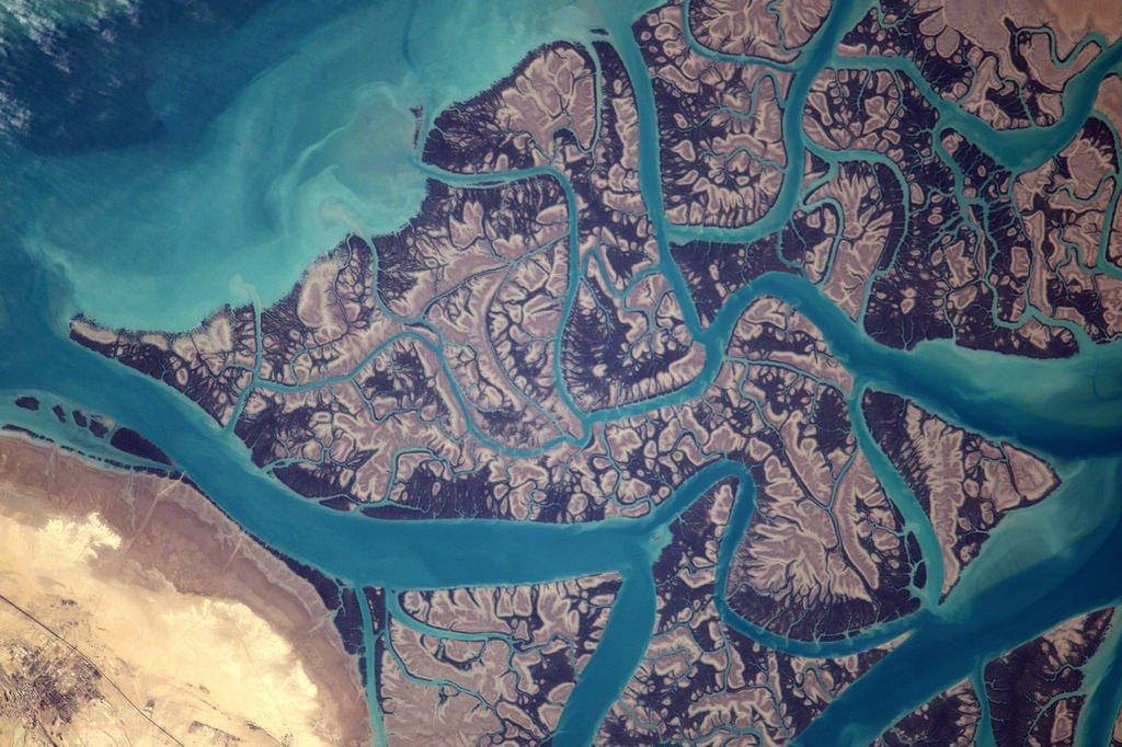 « Motifs psychédéliques sur la côte est du golfe Persique ».