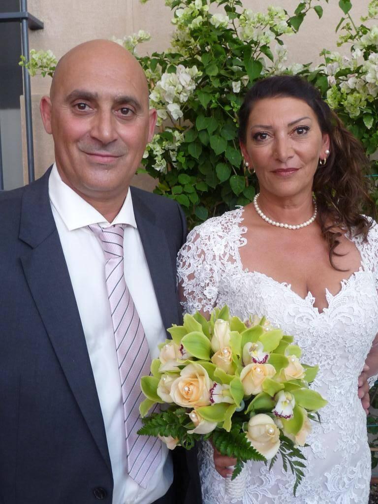 Karim Alaoui-Hasni, entrepreneur en maçonnerie, et Christiane Marciano, coiffeuse.