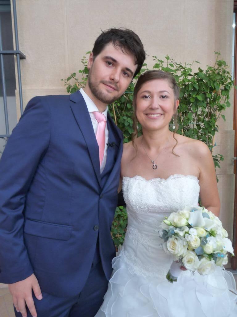 Fabien Cassore, professeur, et Laura Andréazza, infirmière.