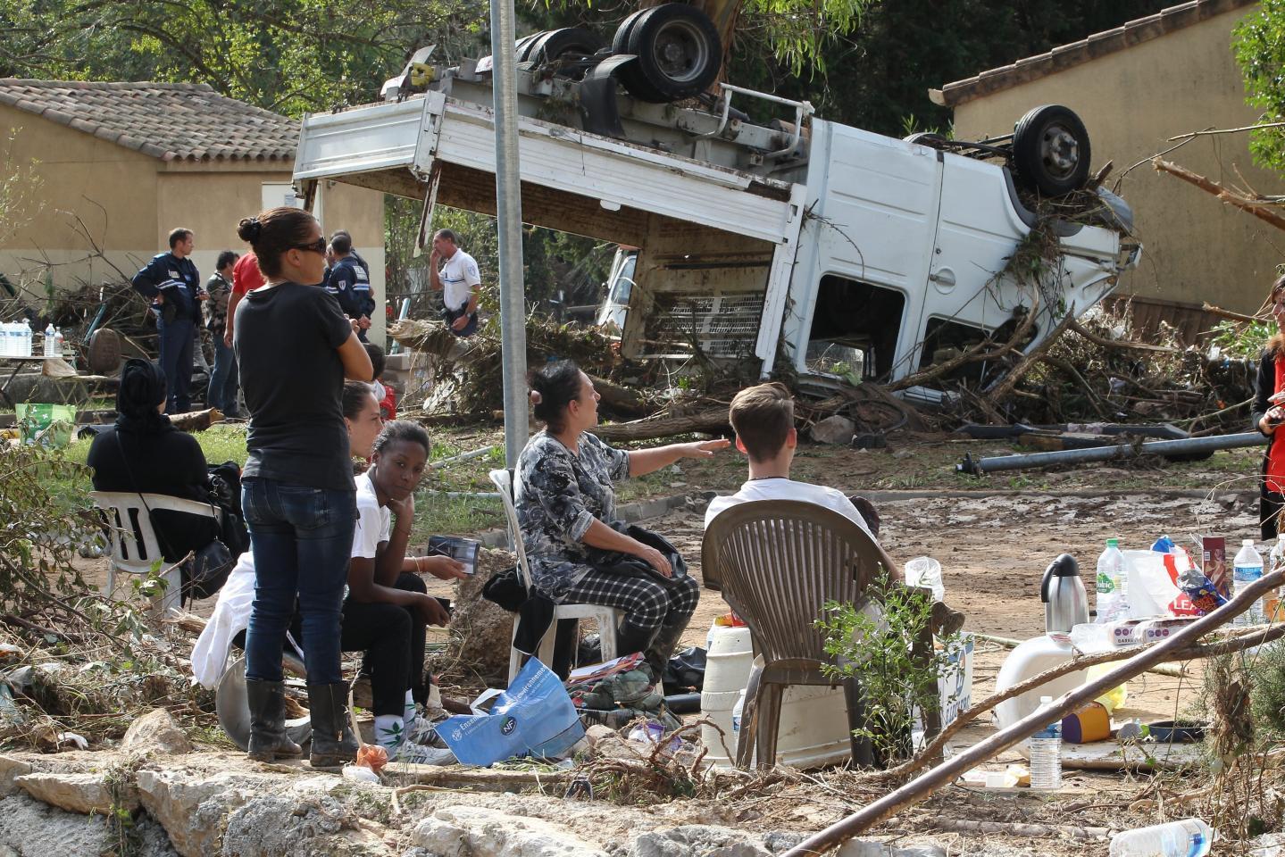 Stupéfaction et horreur au matin du 4 octobre au hameau de Carimaï au Cannet.