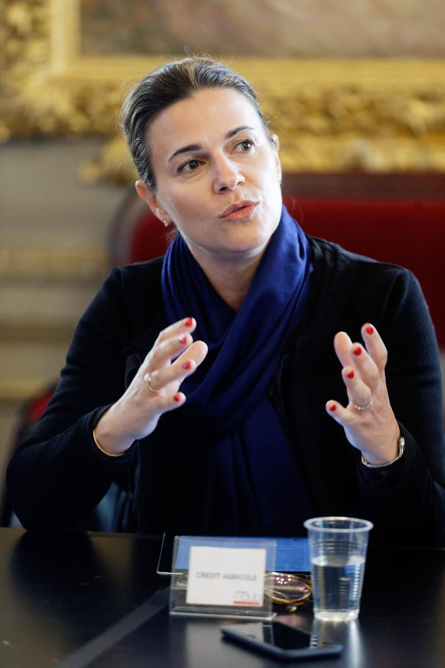 Marie-Pauline Asquiedge, responsable de la communication au Crédit Agricole.